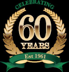Joe Jennings 60 years logo.